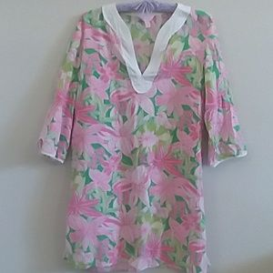 Lilly Pulitzer tunic kaftan swim cover up top medi